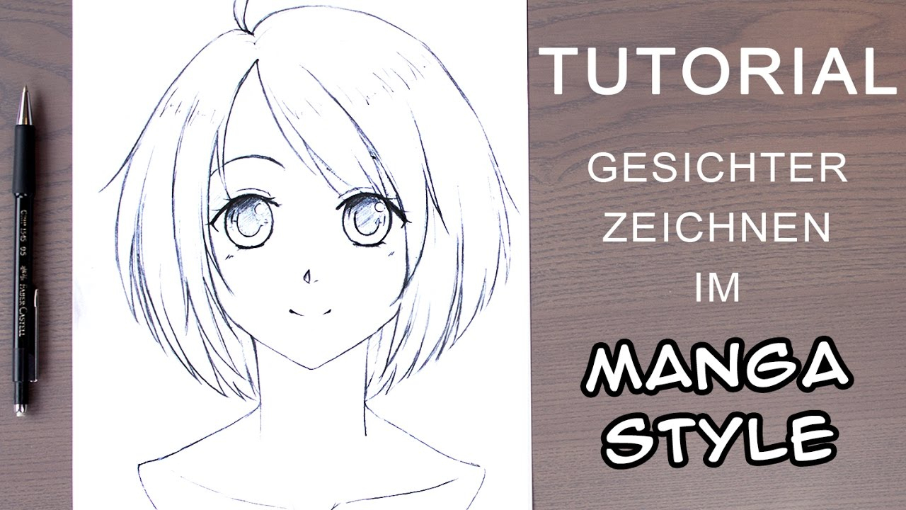 [Tutorial] How To Draw A Manga Face For Beginners│ Female / Front View (Ger  With En Subs) verwandt mit Manga Zeichenvorlagen