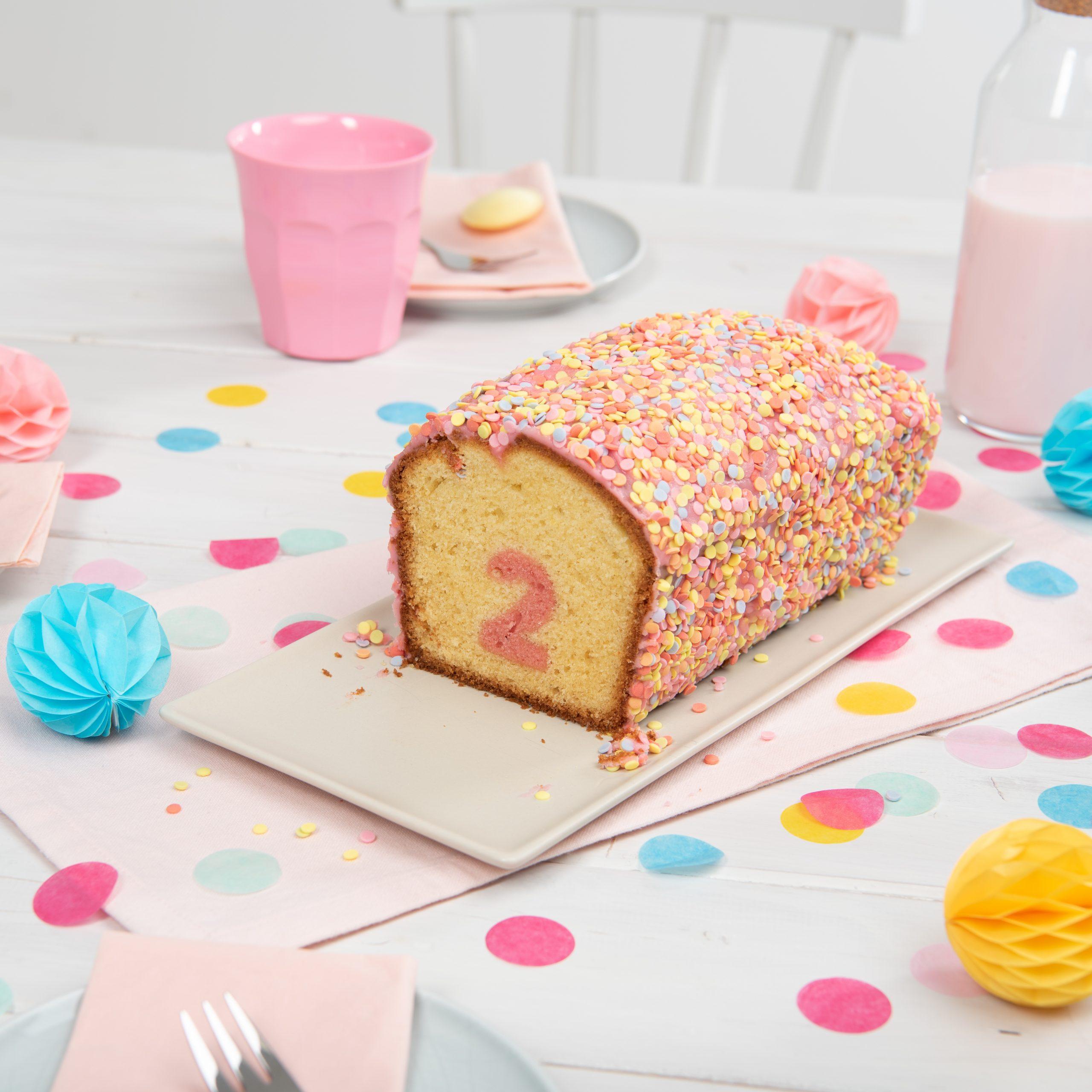 Überraschungs-Kuchen Mit Zahl ganzes Geburtstagskuchen 2 Geburtstag