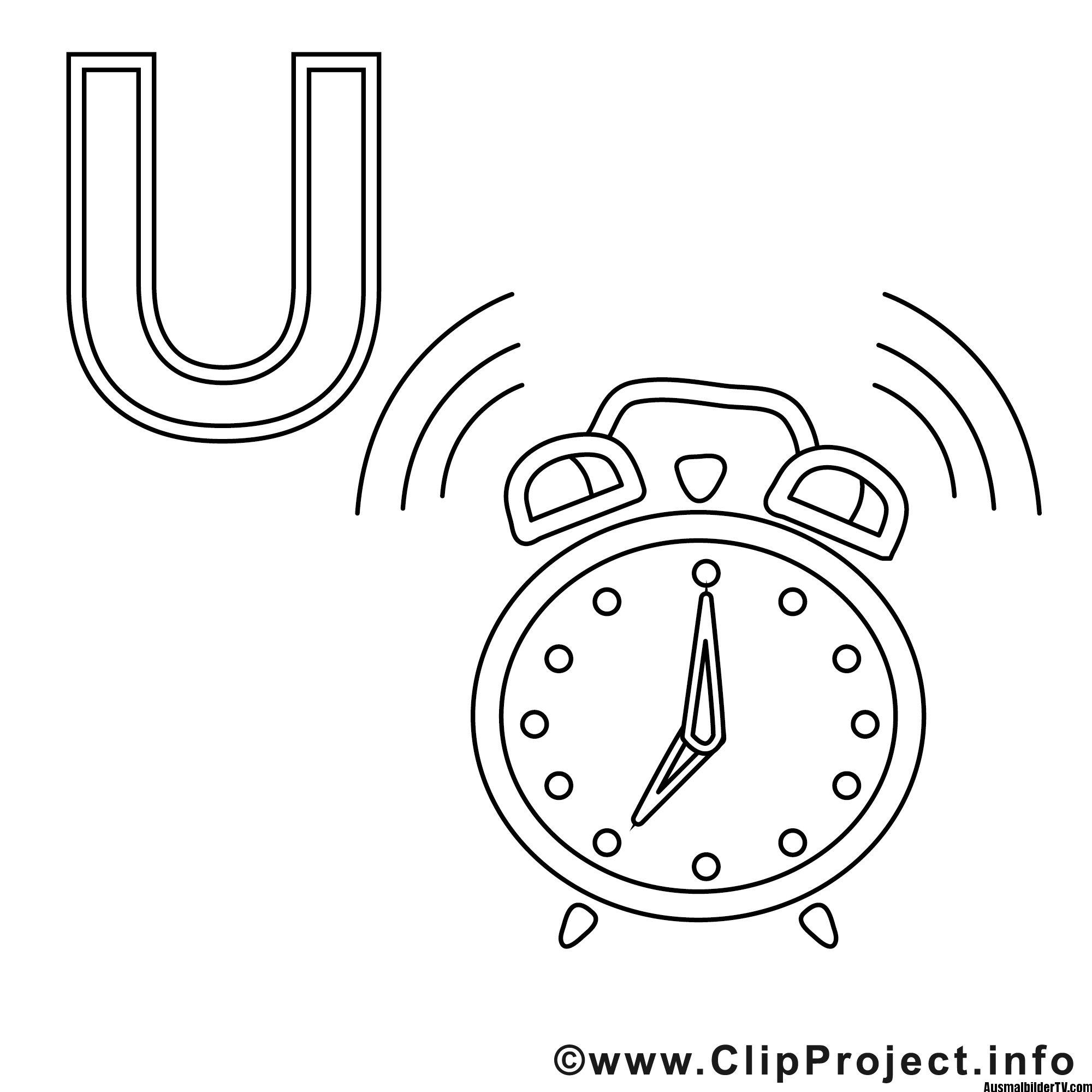 Uhr Ausmalbild - 1Ausmalbilder | Ausmalen, Ausmalbilder bei Ausmalbilder Uhr Vorlagen