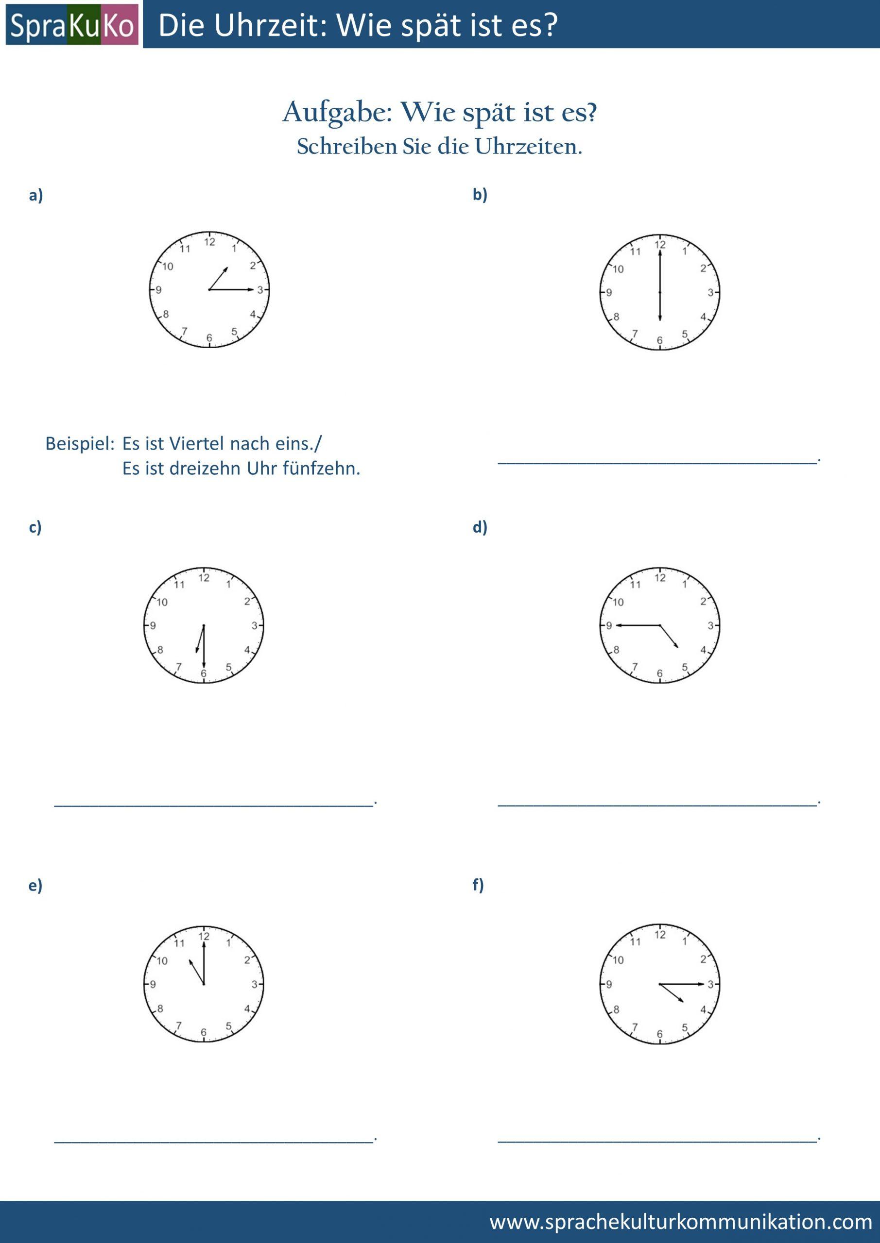 Uhrzeit Archive | Deutsch Lernen Und Unterrichten für Uhr Lernen Übungen