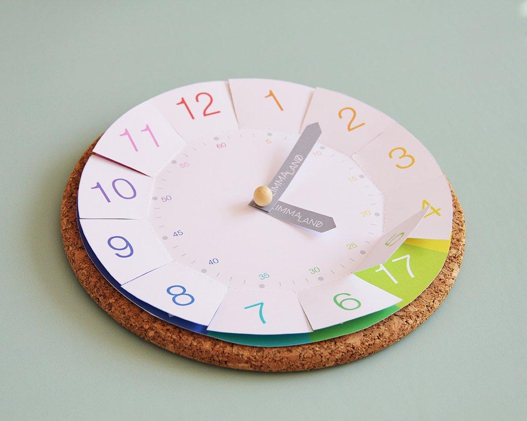 Uhrzeit Lernen - Ikea Hacks Für Kinder Mit Kostenloser bestimmt für Uhr Bastelvorlage