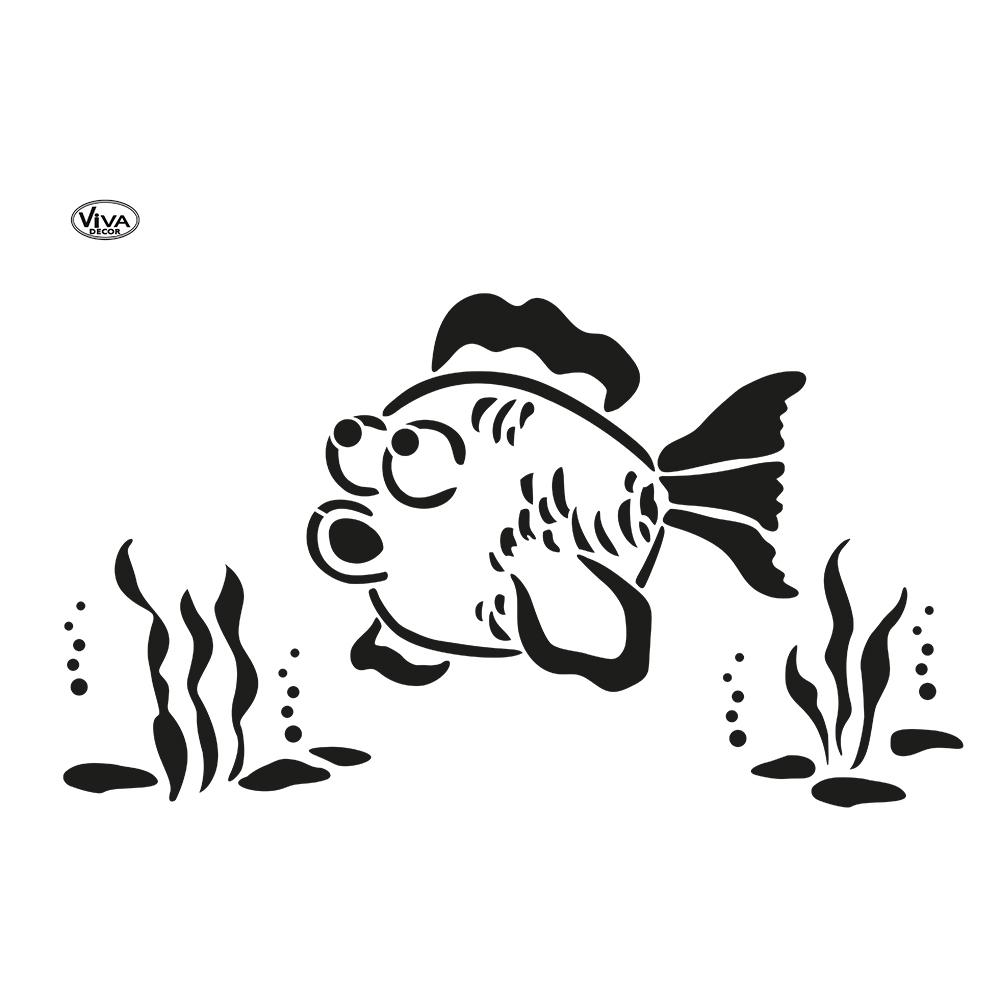Universal-Schablone A3 Blob Paint Fisch | Neuheiten | Viva für Schablone Fisch