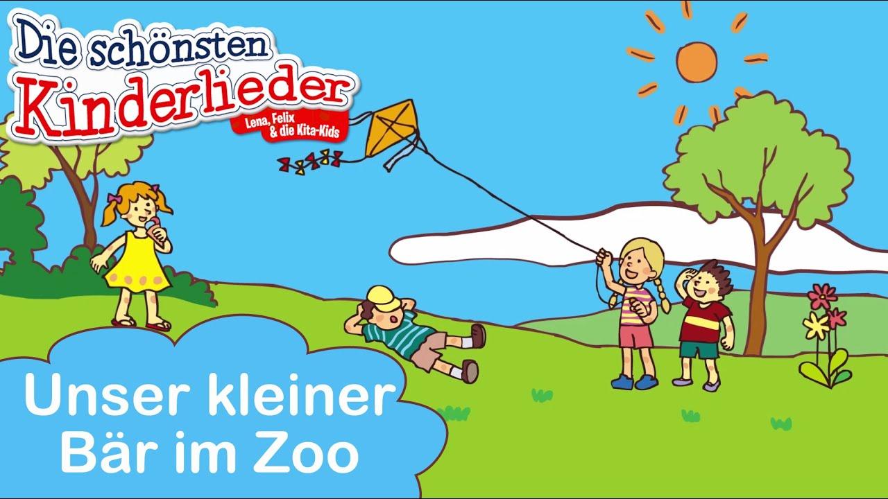Unser Kleiner Bär Im Zoo | Kinderlied Mit Text Zum Mitsingen für Unser Kleiner Bär Im Zoo Noten