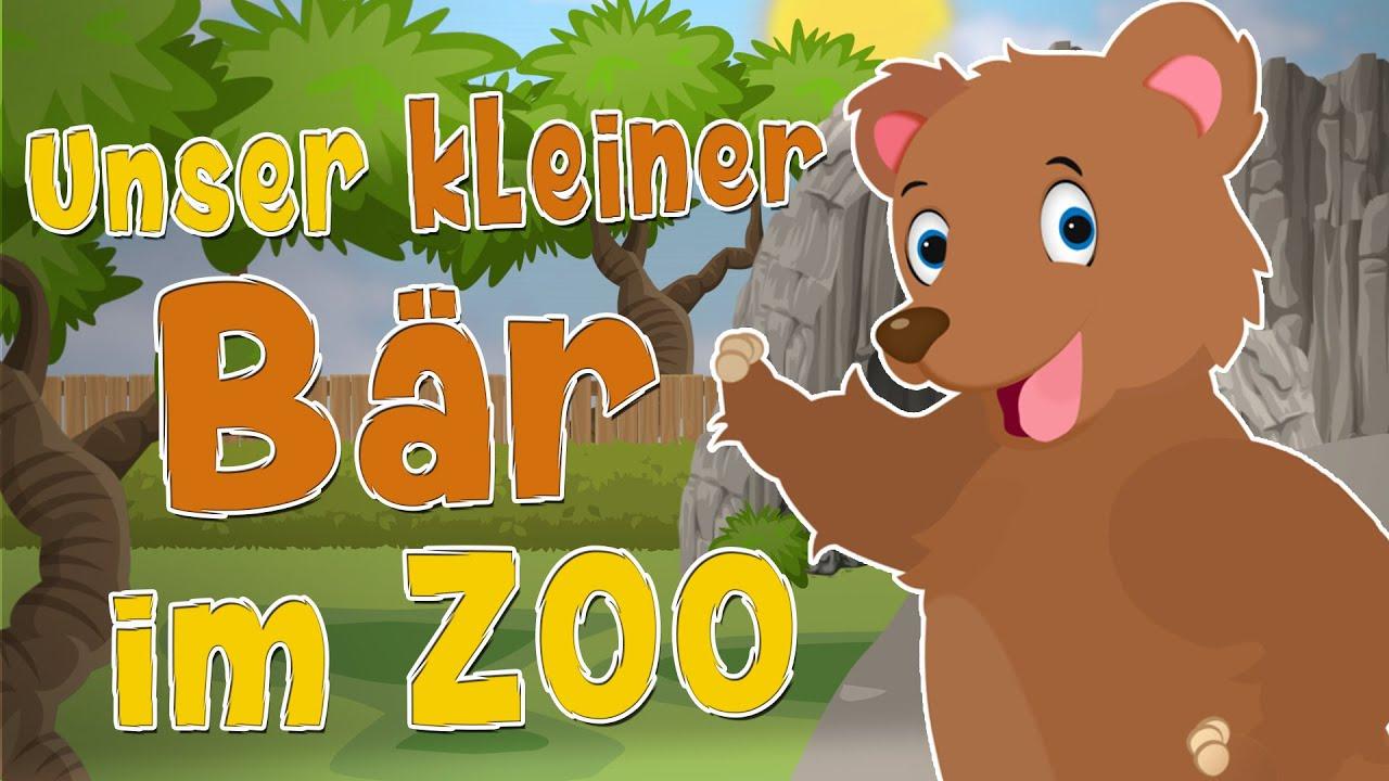 Unser Kleiner Bär Im Zoo - Kinderliedergarten.de mit Unser Kleiner Bär Im Zoo Noten