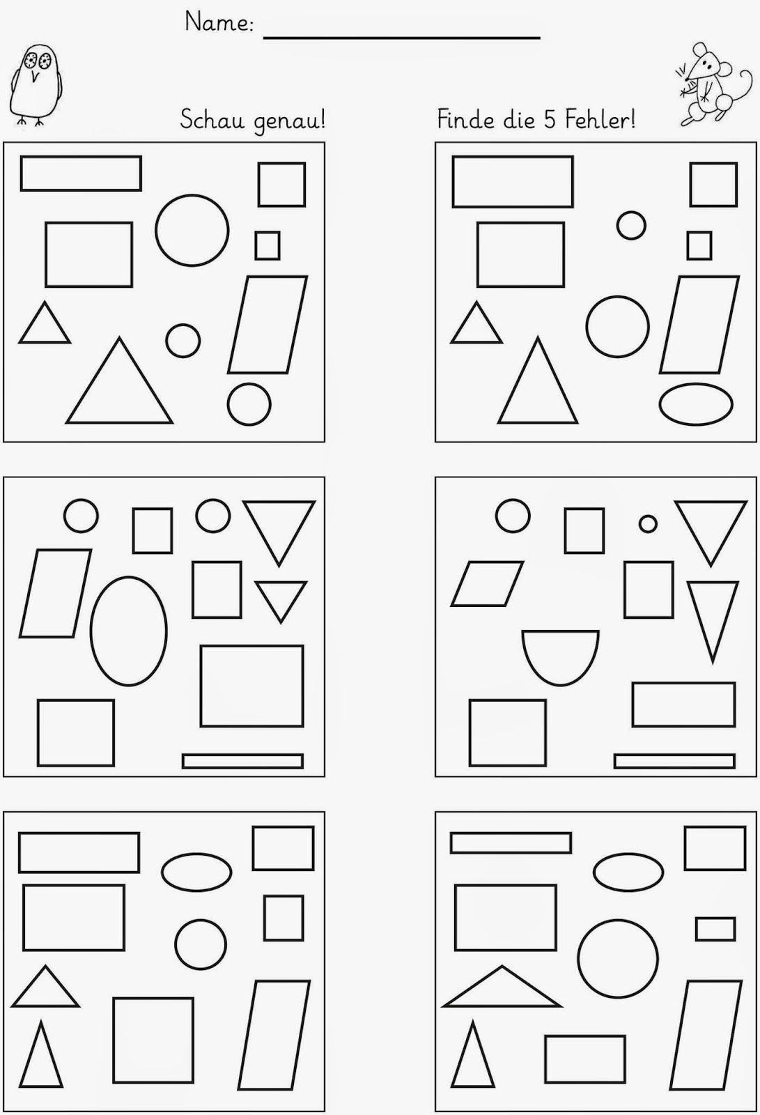 Unterschiede Finden (Mit Bildern) | Lernen, Arbeitsblätter bei Mathematik Vorschule Arbeitsblätter Kostenlos