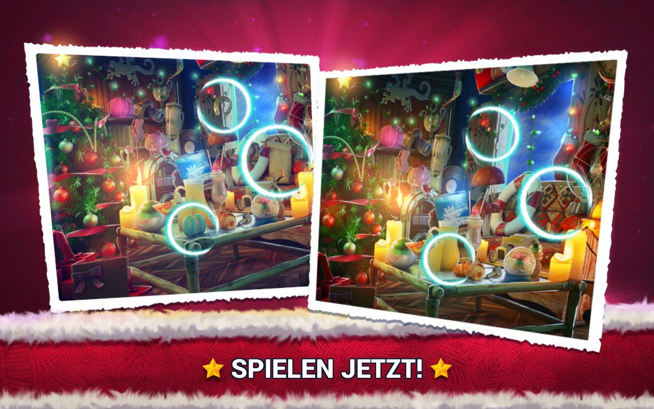 Unterschiede Finden Weihnachten - Fehlersuche Spiel in Fehlersuche Bilder