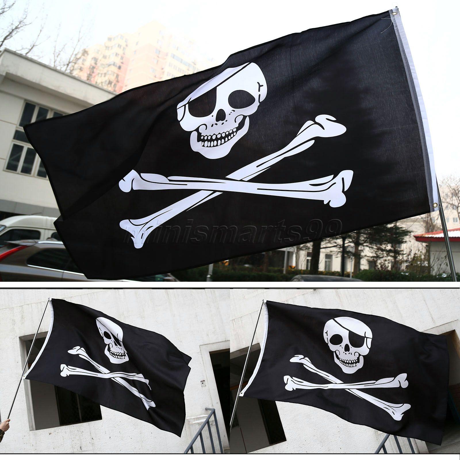 Us $3.29 5% Off|5X3Ft Piratenflaggen Totenkopf Jolly Roger Pirate Flaggen  Partei Banner Hängen Flag Dekorative Artikel Für Zuhause|Flag Country|Flag verwandt mit Piratenflaggen