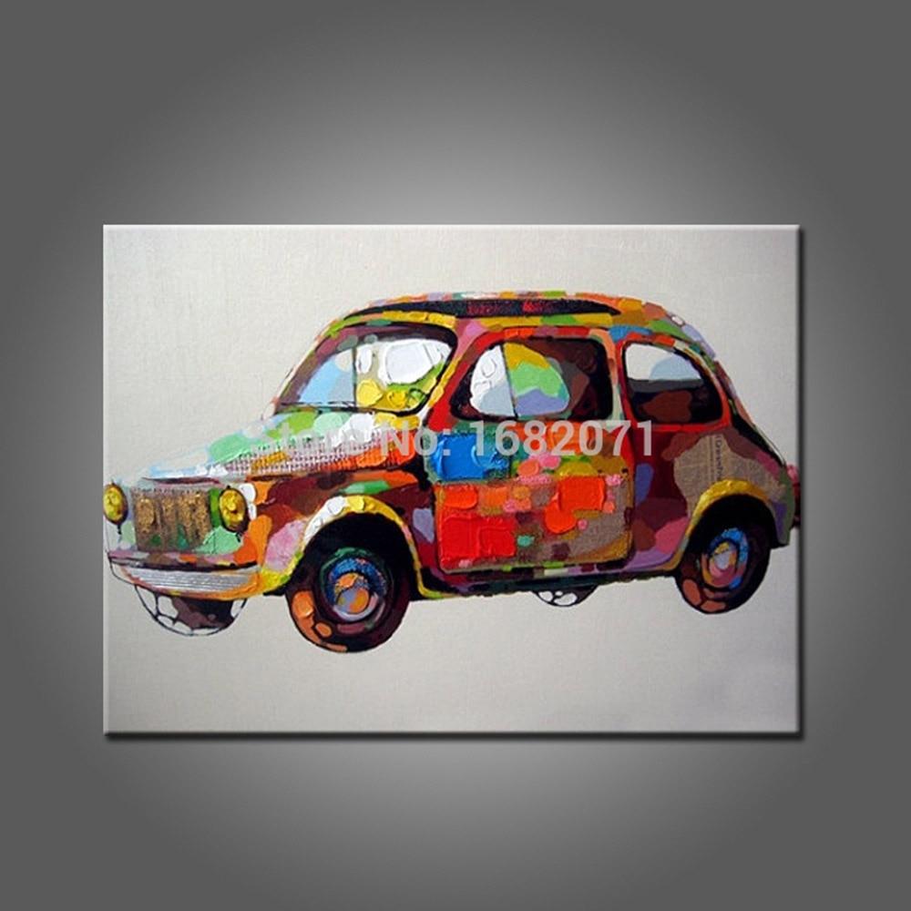 Us $42.0 50% Off|Großhandel Preis Handgemachte Auto Ölgemälde Auf Leinwand  Hand Gemalt Abstrakte Moderne Auto Abstrakte Gemälde Für Wand verwandt mit Auto Gemalt