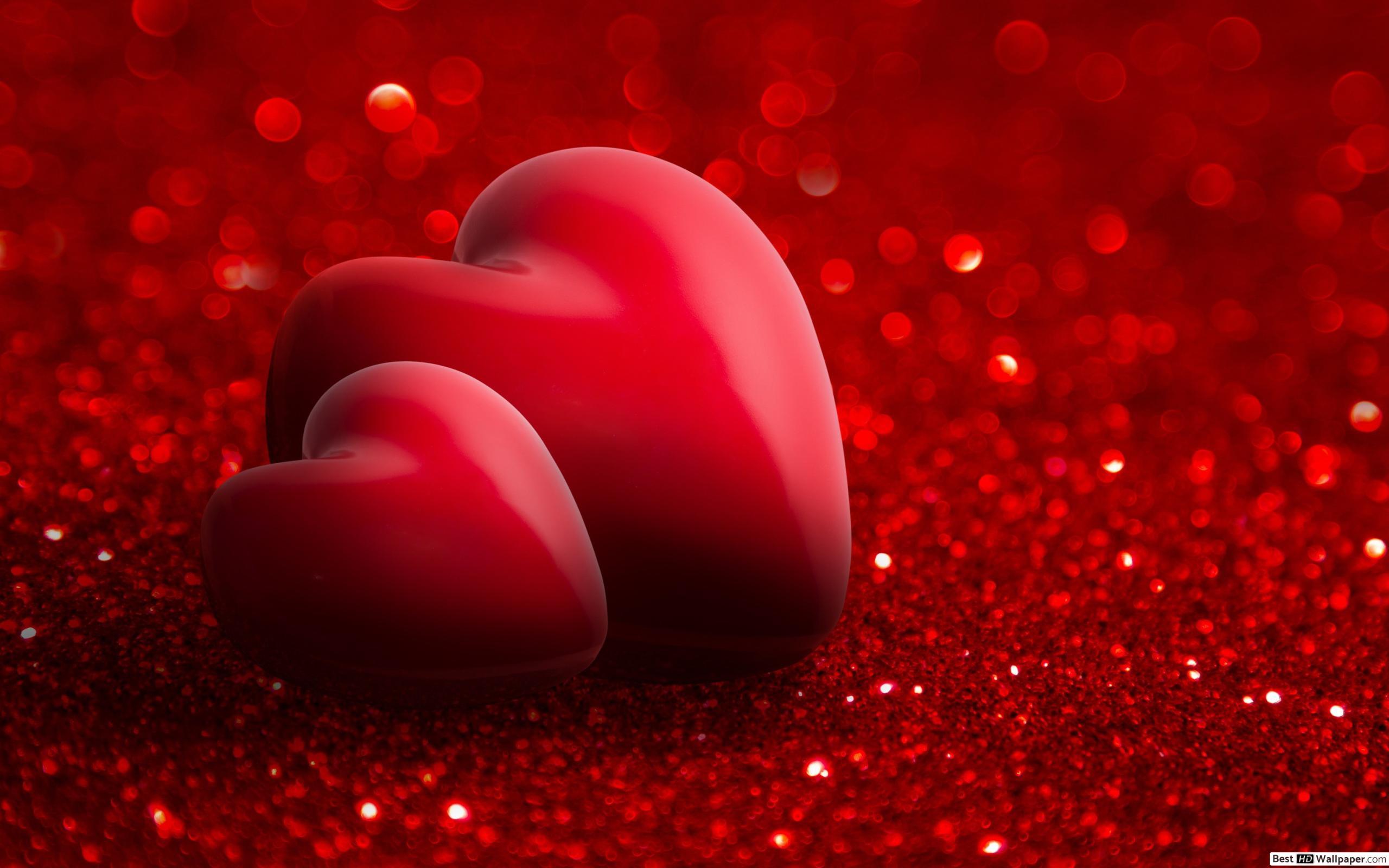 Valentinstag - Romantische Rote Herzen Hd Hintergrundbilder für Herz Bilder Kostenlos Herunterladen