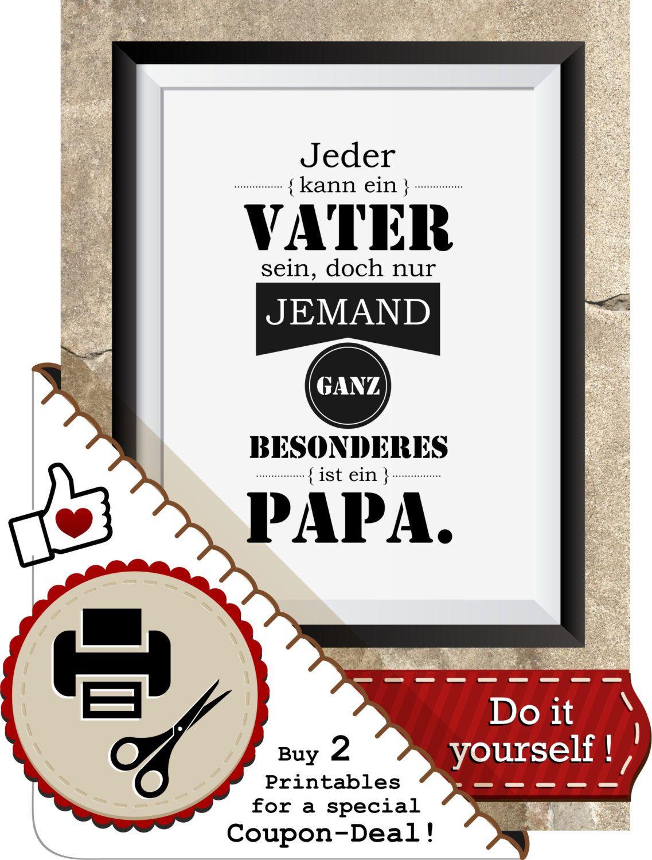 Vatertag Druckvorlage Für Papa, Inkl. Geschenkanhänger, Bild für Geschenk Für Vater Weihnachten