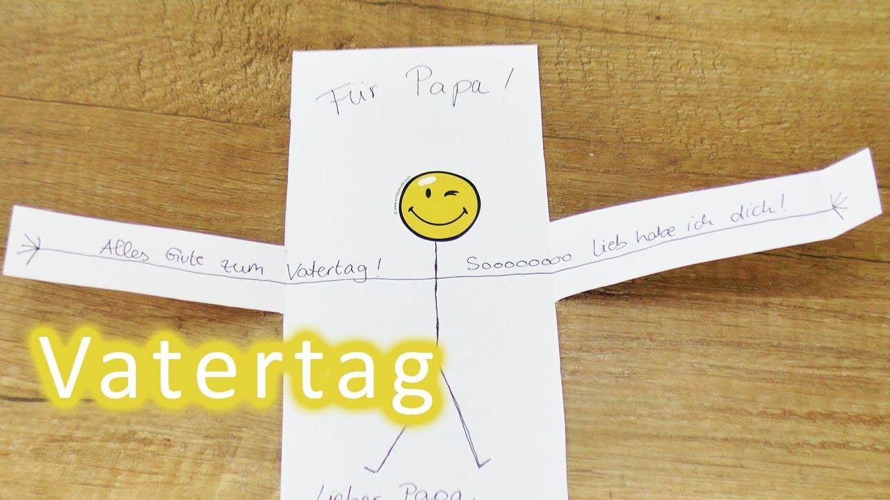 Vatertagsgeschenke Last Minute Idee | Süße Karte Für Papa! Gutschein Selber  Machen Für Den Vater Tag in Vatertagsgeschenke Selber Basteln