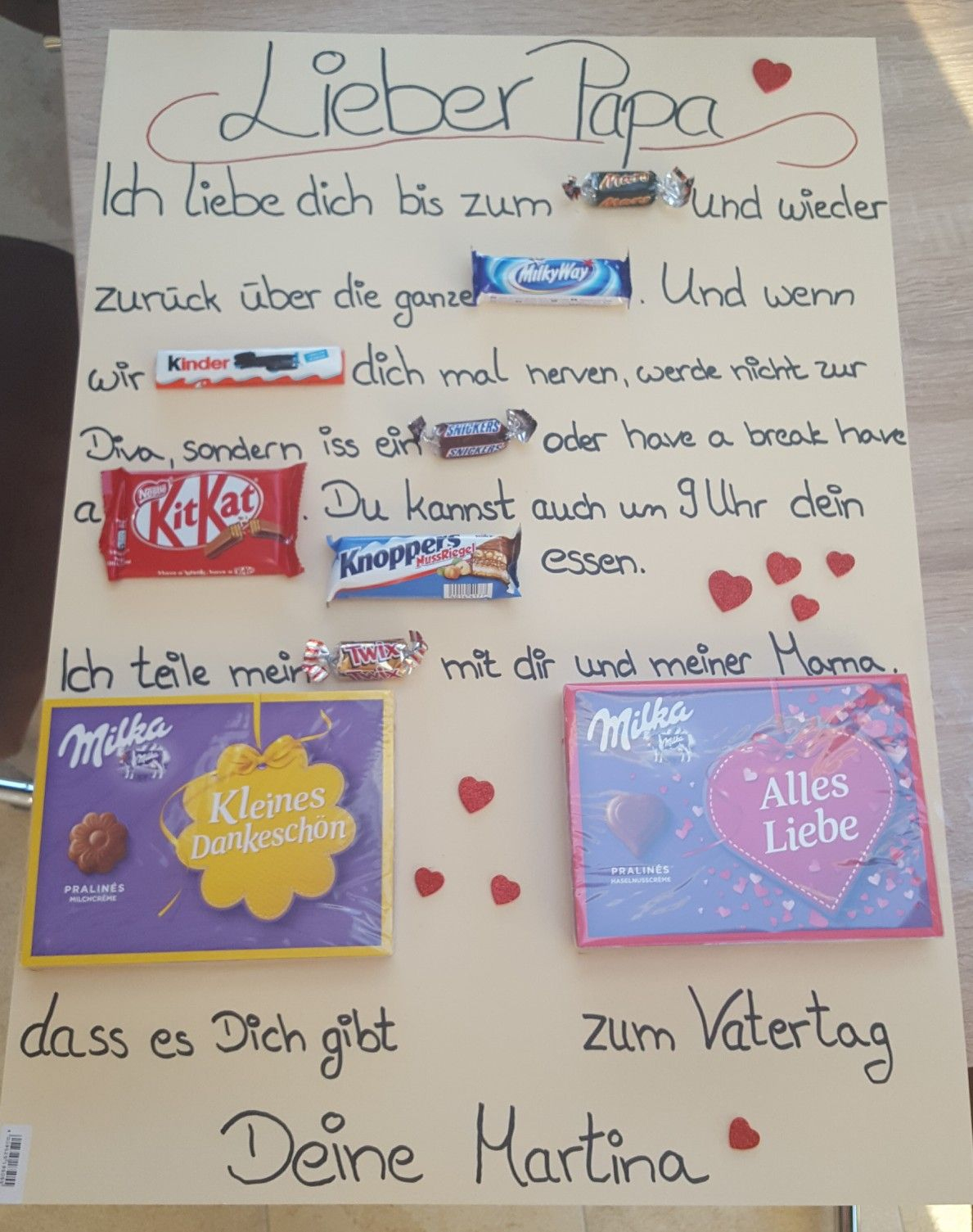 Vatertagsgeschenk#süßigkeiten# (Mit Bildern über Selbstgebastelte Geschenke Von Kindern