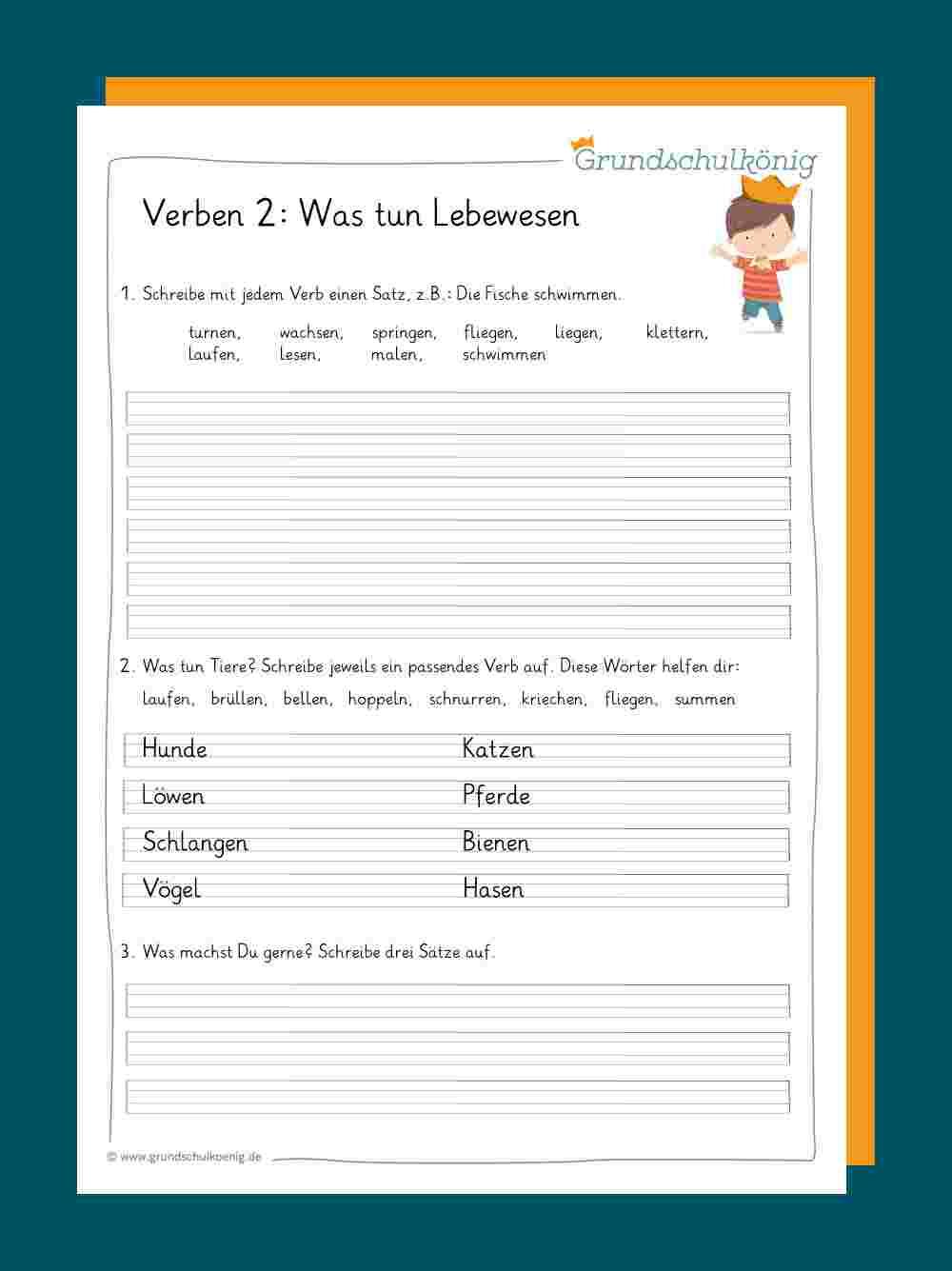 Verben Und Zeitformen in Deutsch 3 Klasse Nomen Verben Adjektive Übungen