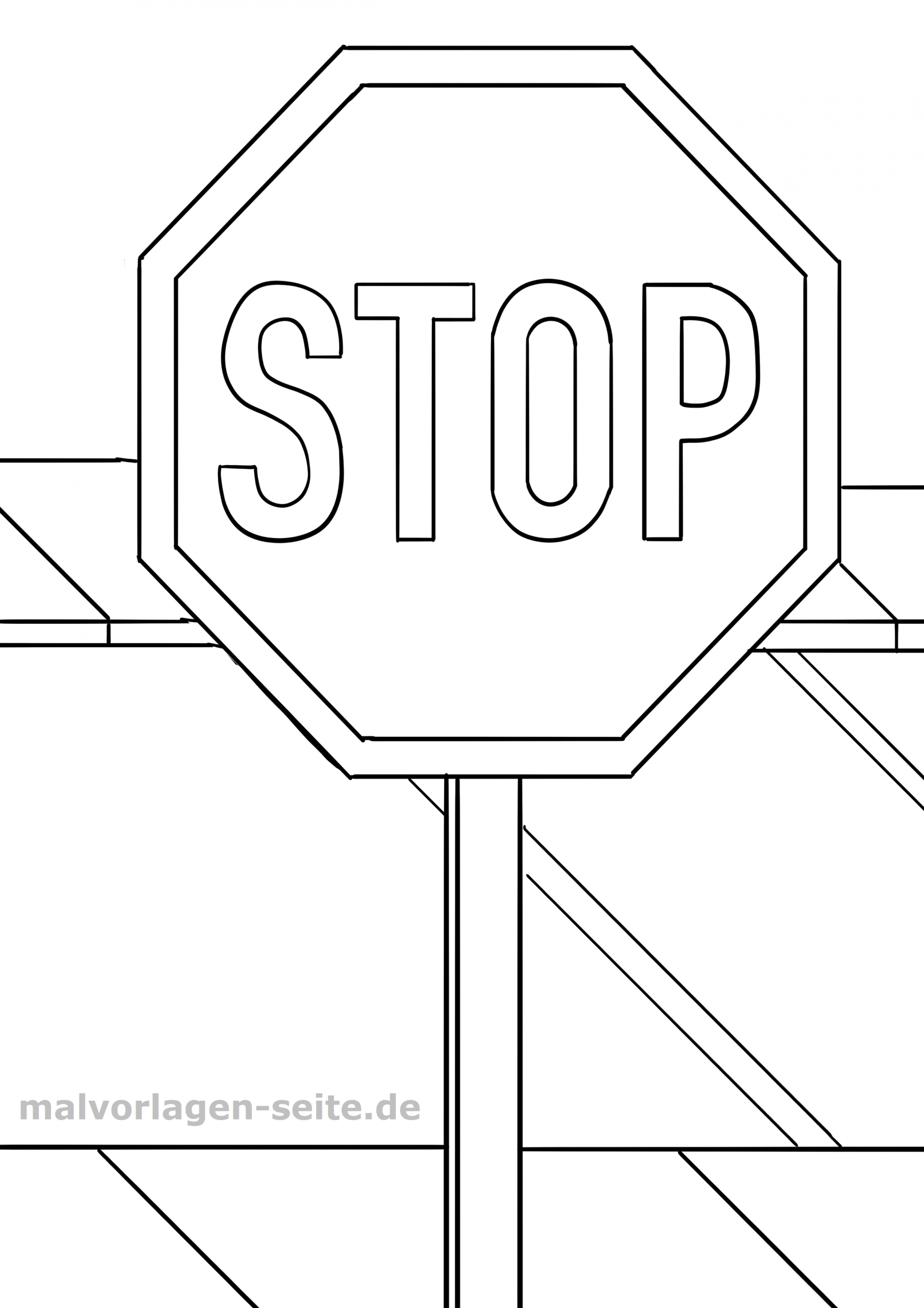 Verkehrszeichen Zum Ausmalen In Kindergarten Oder Grundschule ganzes Verkehrsschilder Zum Ausmalen