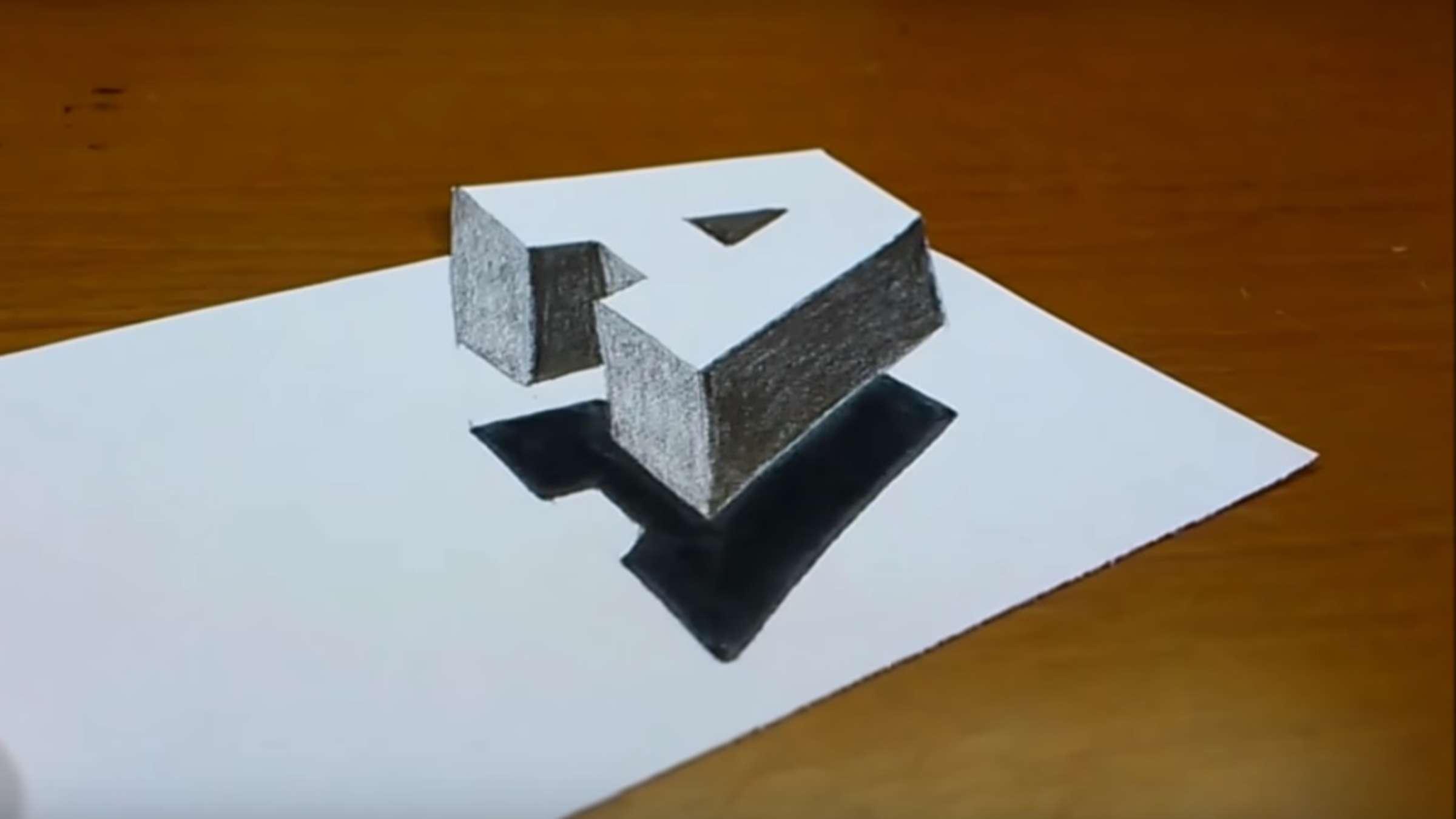 Video Des Tages: Wie Man Einen Buchstaben Ganz Einfach In 3D in 3D Würfel Zeichnen