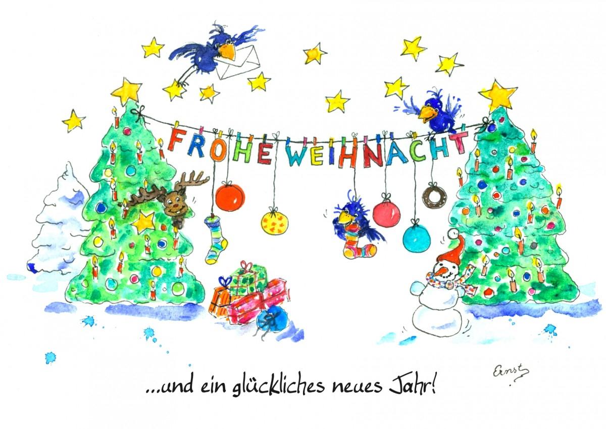 Vier Fröhliche Weihnachtskarten Zum Kostenlosen Download innen Grusskarten Weihnachten Kostenlos