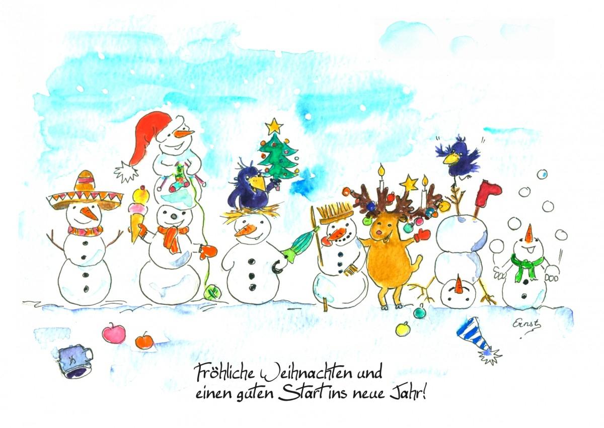 Vier Fröhliche Weihnachtskarten Zum Kostenlosen Download über Kostenlos Weihnachtskarten