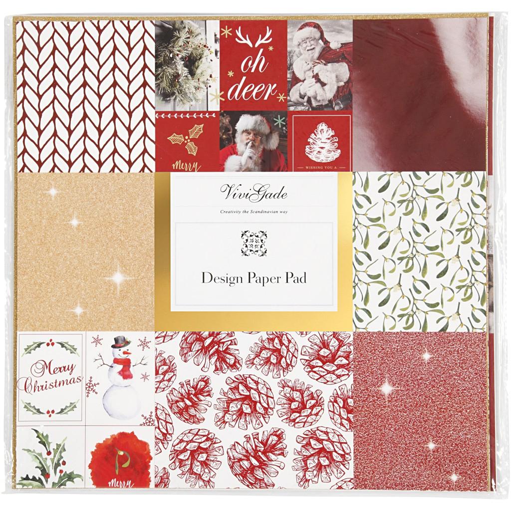 """Vivi Gade Design-Papier """"design Paper Pad"""", 30,5X30,5Cm, 36 Blatt über Bastelpapier Weihnachten"""