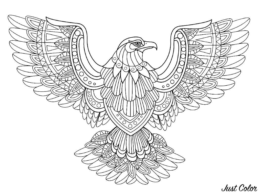 Vogel 58381 - Vögel - Malbuch Fur Erwachsene verwandt mit Mandala Vogel