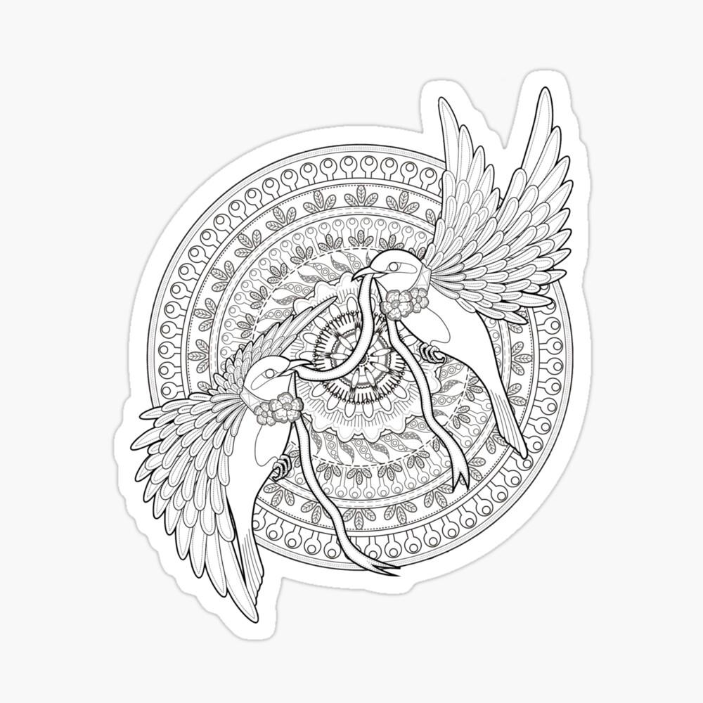 "Vogel-Mandala"" Poster Von Neffvv   Redbubble verwandt mit Mandala Vogel"