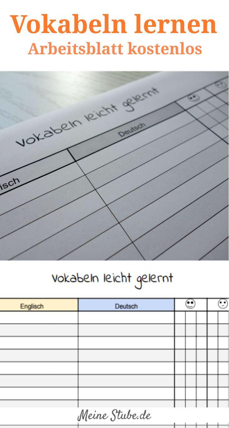Vokabeln Lernen Mit Kinder, Arbeitsblatt Kostenlos mit Englisch Lernen Für Kinder Kostenlos