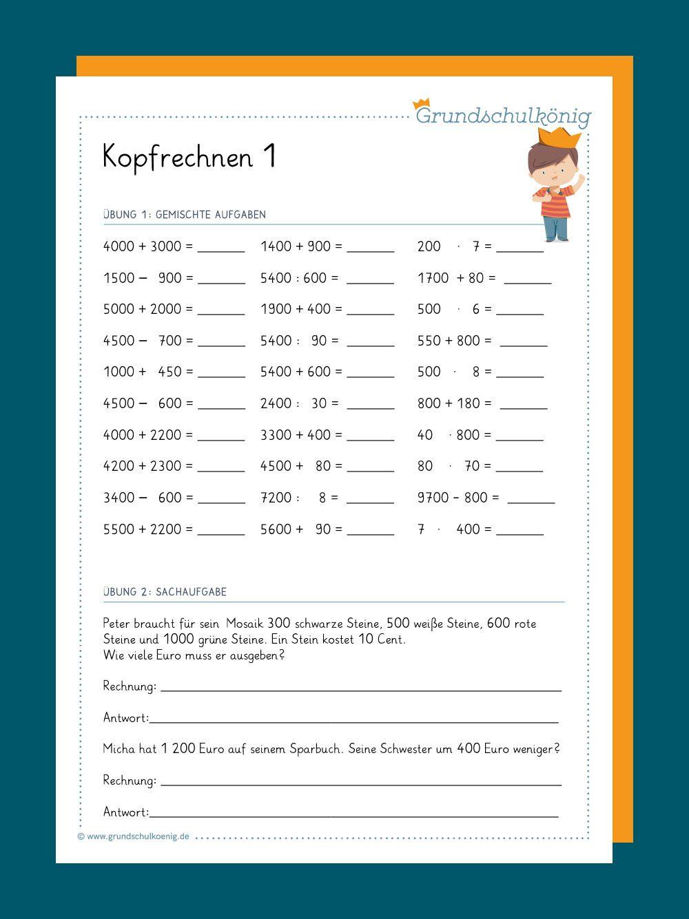 Vorbereitung Für Klassenarbeiten Und Proben Leicht Gemacht innen Kostenlose Arbeitsblätter Mathe