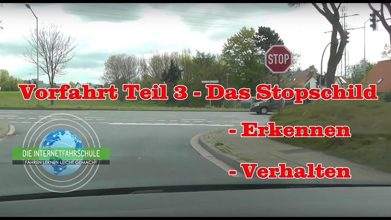 Vorfahrt Teil 2 - Das Stopschild - Fahrstunde - Prüfungsfahrt verwandt mit Welches Verhalten Ist Richtig Stoppschild
