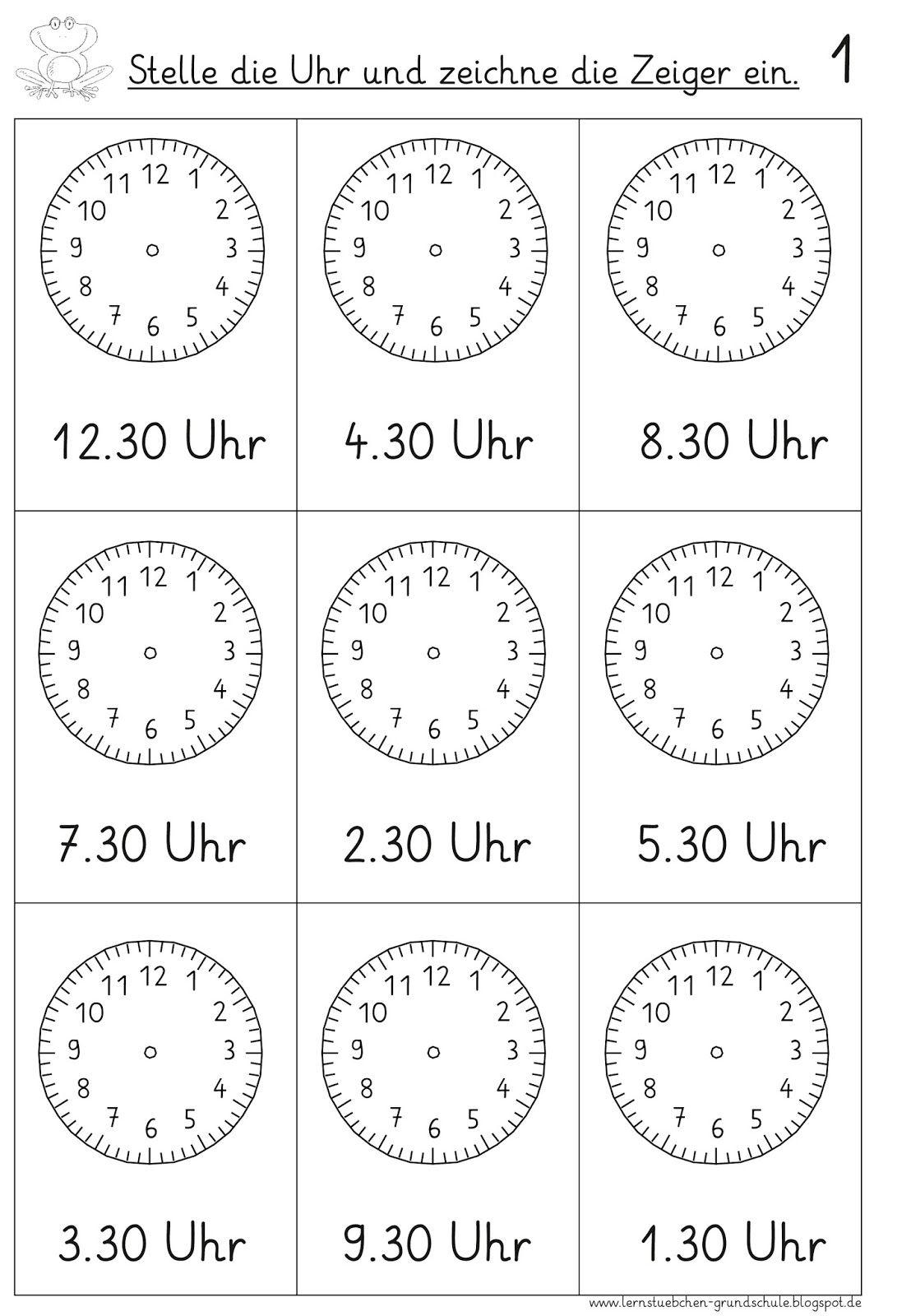 Vorgegebene Uhrzeiten Einstellen (3) (Mit Bildern) | Uhrzeit verwandt mit Uhr Lernen Arbeitsblätter Kostenlos