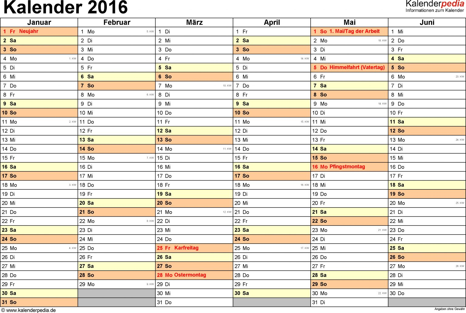 vorlage 4 kalender 2016 für word querformat 2 seiten 1