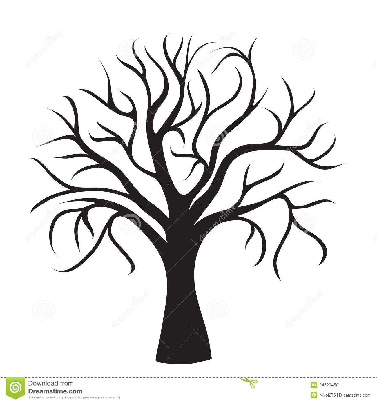 Vorlage Baum   Baum Umriss, Baum Schablone, Baum Zeichnung für Bastelvorlage Baum