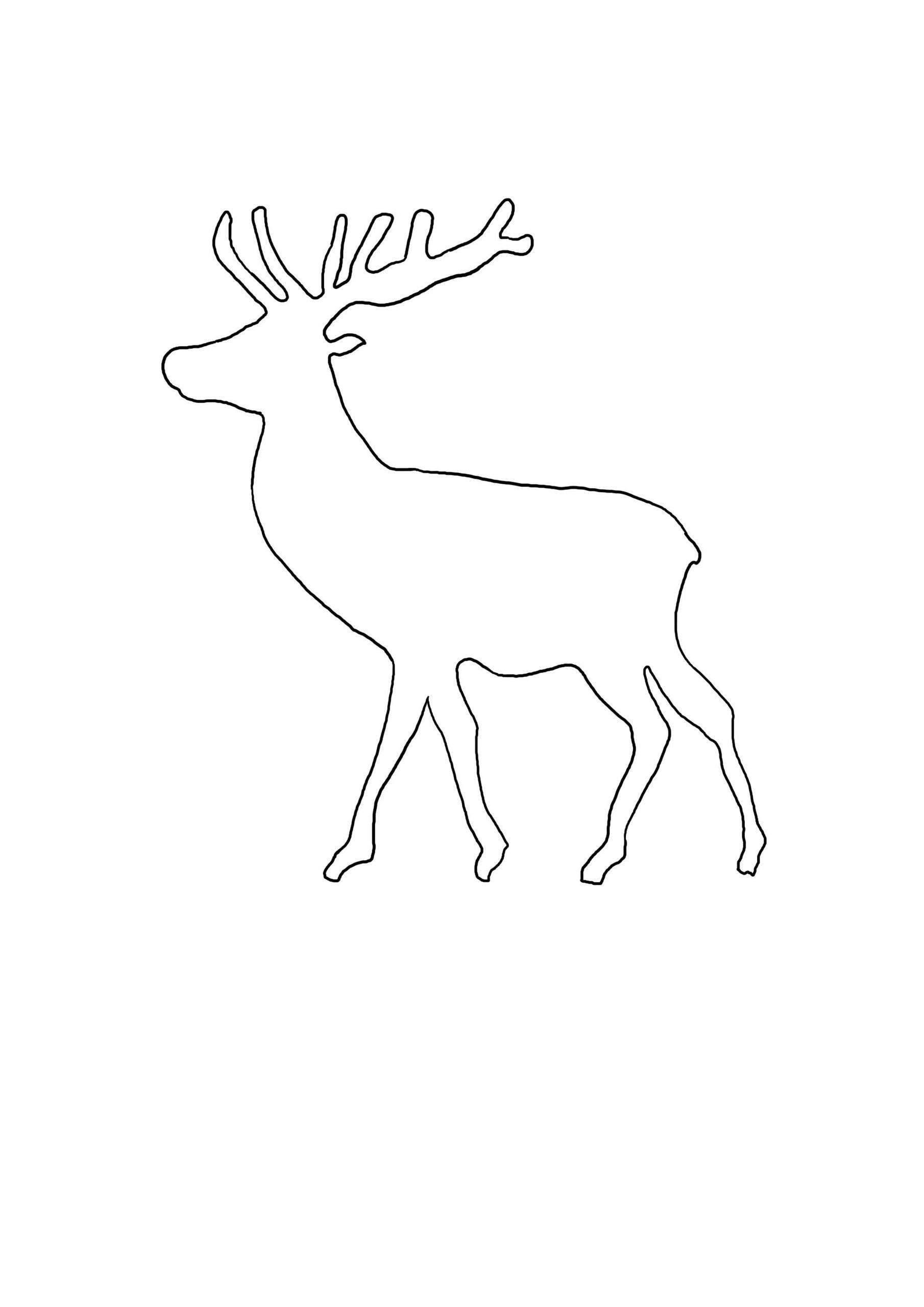 Vorlage_Elch_1 2.480×3.508 Pixel | Weihnachten Basteln bei Bastelvorlagen Weihnachten Zum Ausdrucken Kostenlos