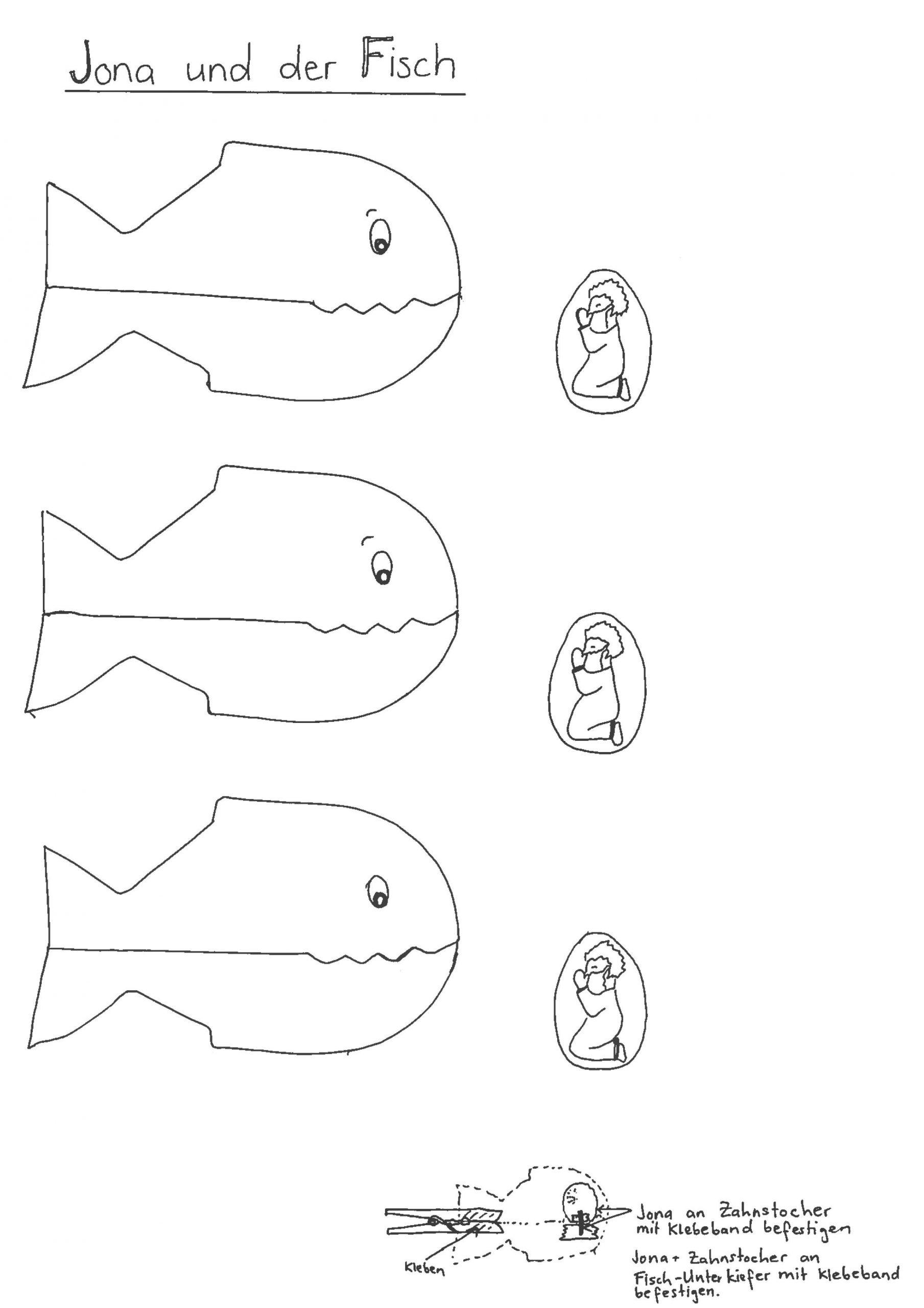 Vorlage_Klammer_Jona (2479×3508) | Bibel Für Kinder innen Fische Basteln Vorlagen