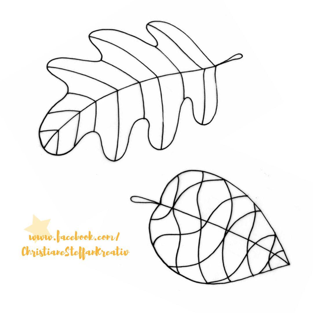 Vorlagen Für Die Herbstblätter Aus Der Heißklebepistole (Als bei Window Color Malvorlagen Herbst