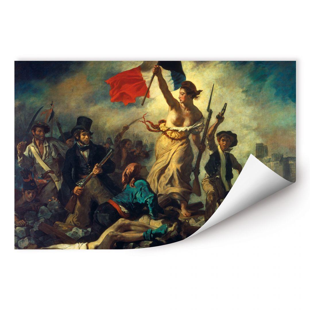 Wallprint Delacroix - Die Freiheit Führt Das Volk bei Delacroix Die Freiheit Führt Das Volk