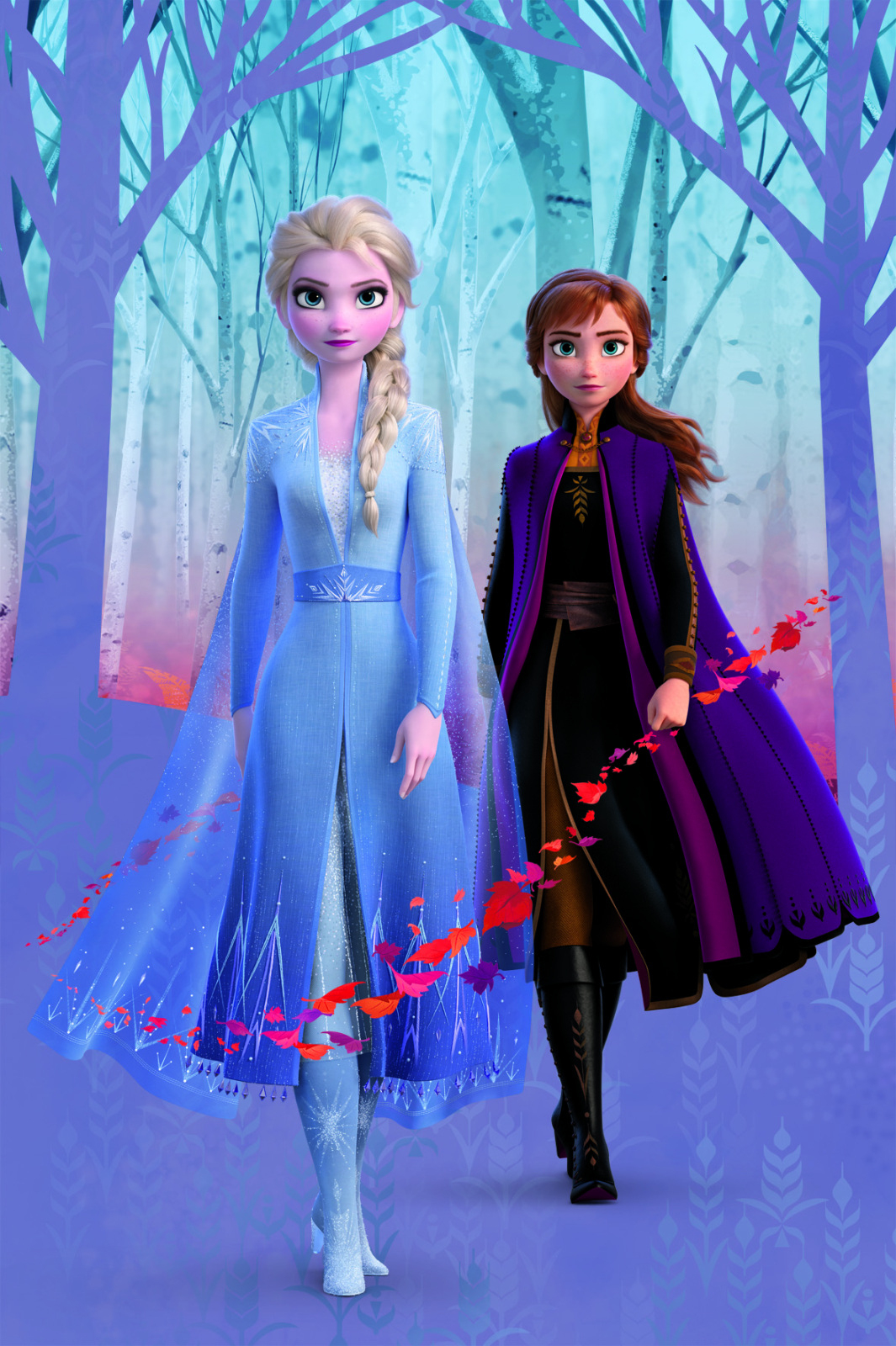 Wandbild Frozen - Anna Und Elsa - 60X90 Cm über Anna Und Elsa Bilder