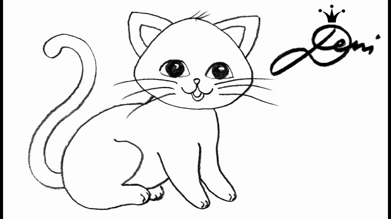 Wandbilder Selber Malen Vorlagen Neu Katze Schnell Zeichnen mit Zeichnen Bilder Vorlagen