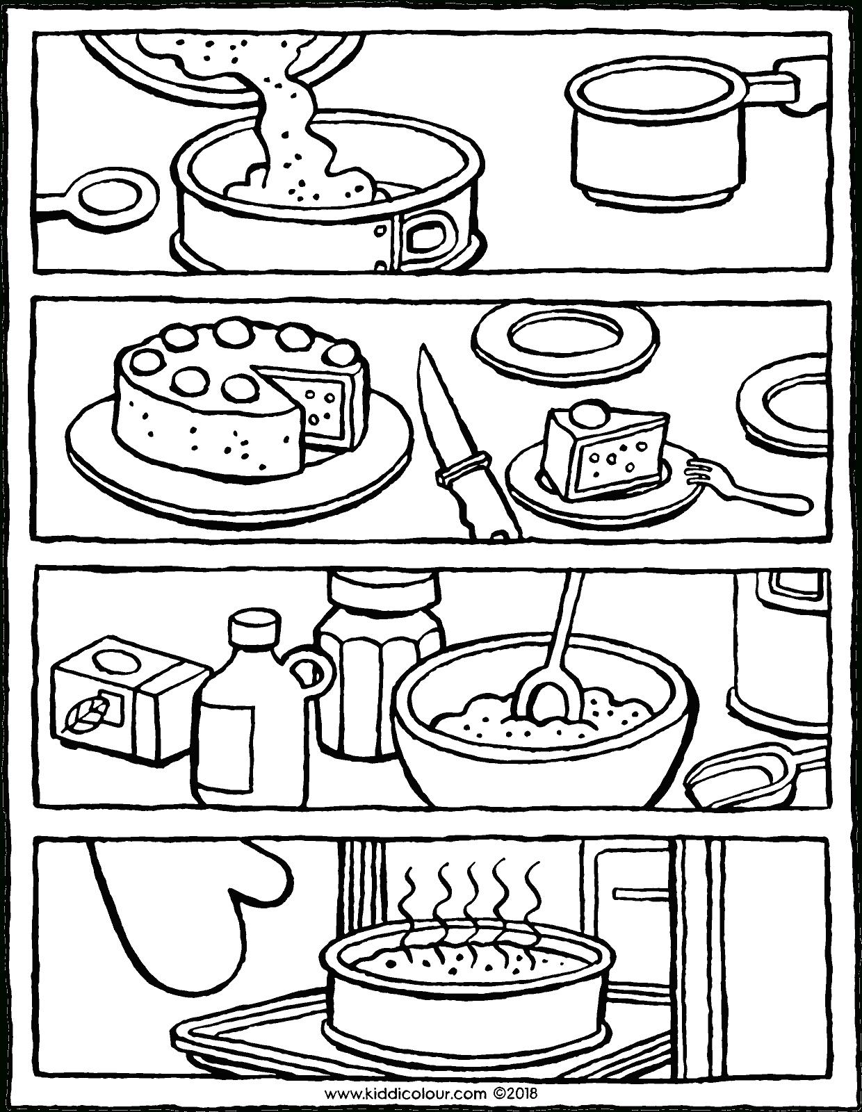 Was Machst Du Zuerst, Wenn Du Einen Kuchen Backst über Kuchen Ausmalbild