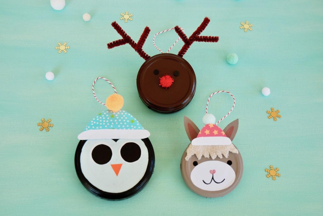 Weihnachten Basteln Mit Kindern: Tierische ganzes Weihnachtsdeko Basteln Kinder
