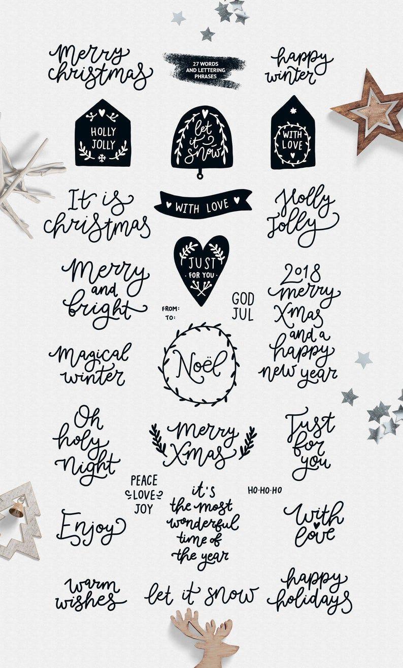 Weihnachten Clipart Weihnachten Svg Digitale Papier verwandt mit Weihnachtliche Wörter