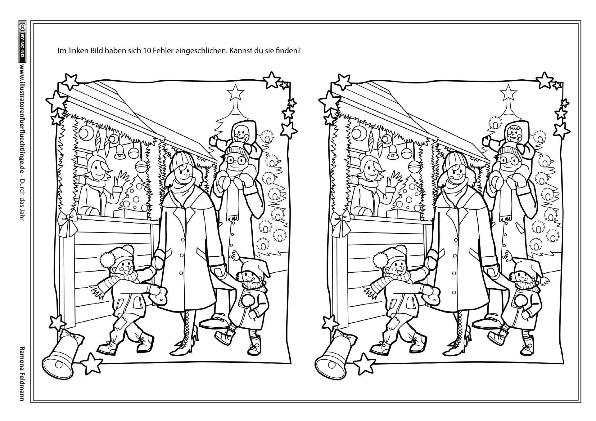 Weihnachten Fehlerbild (Mit Bildern) | Kindergarten für Weihnachtsrätsel Für Kindergartenkinder