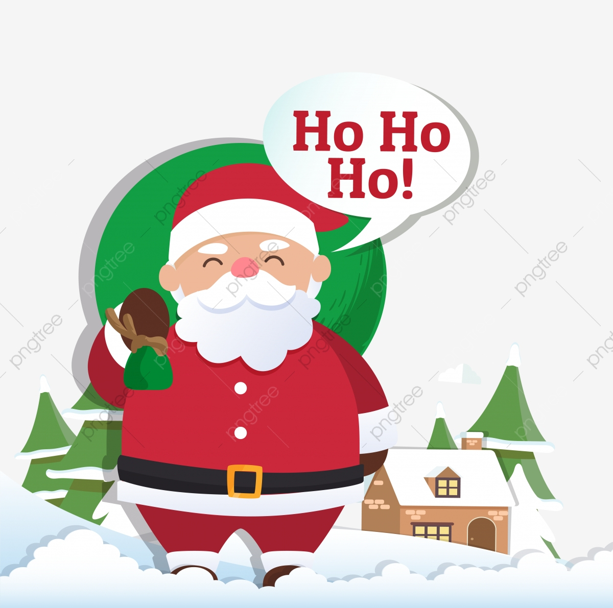Weihnachten Hintergrund Mit Santa Claus Und Frohe bei Frohe Weihnachten Clipart Kostenlos