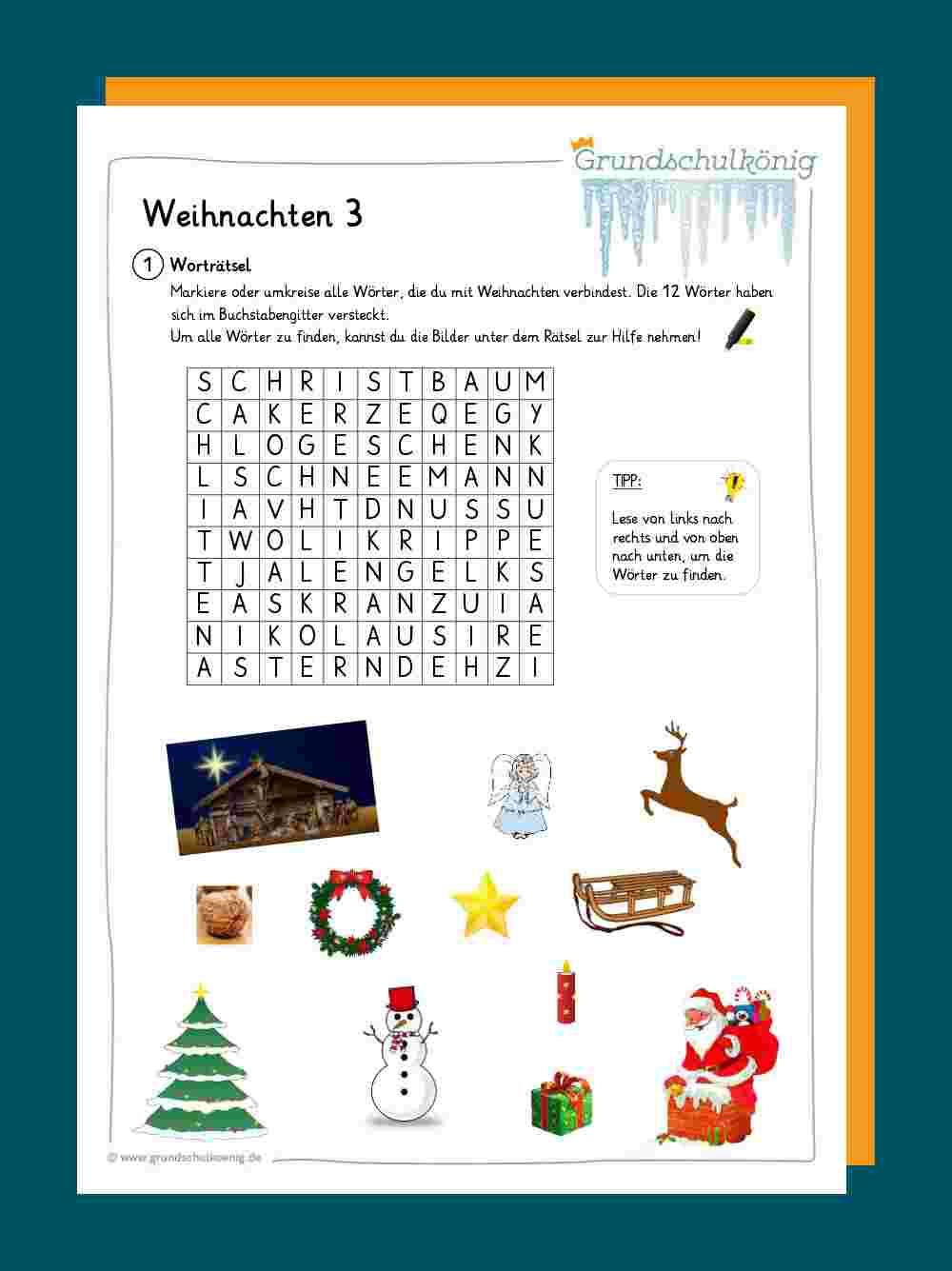 weihnachten arbeitsblätter grundschule  kinderbilder