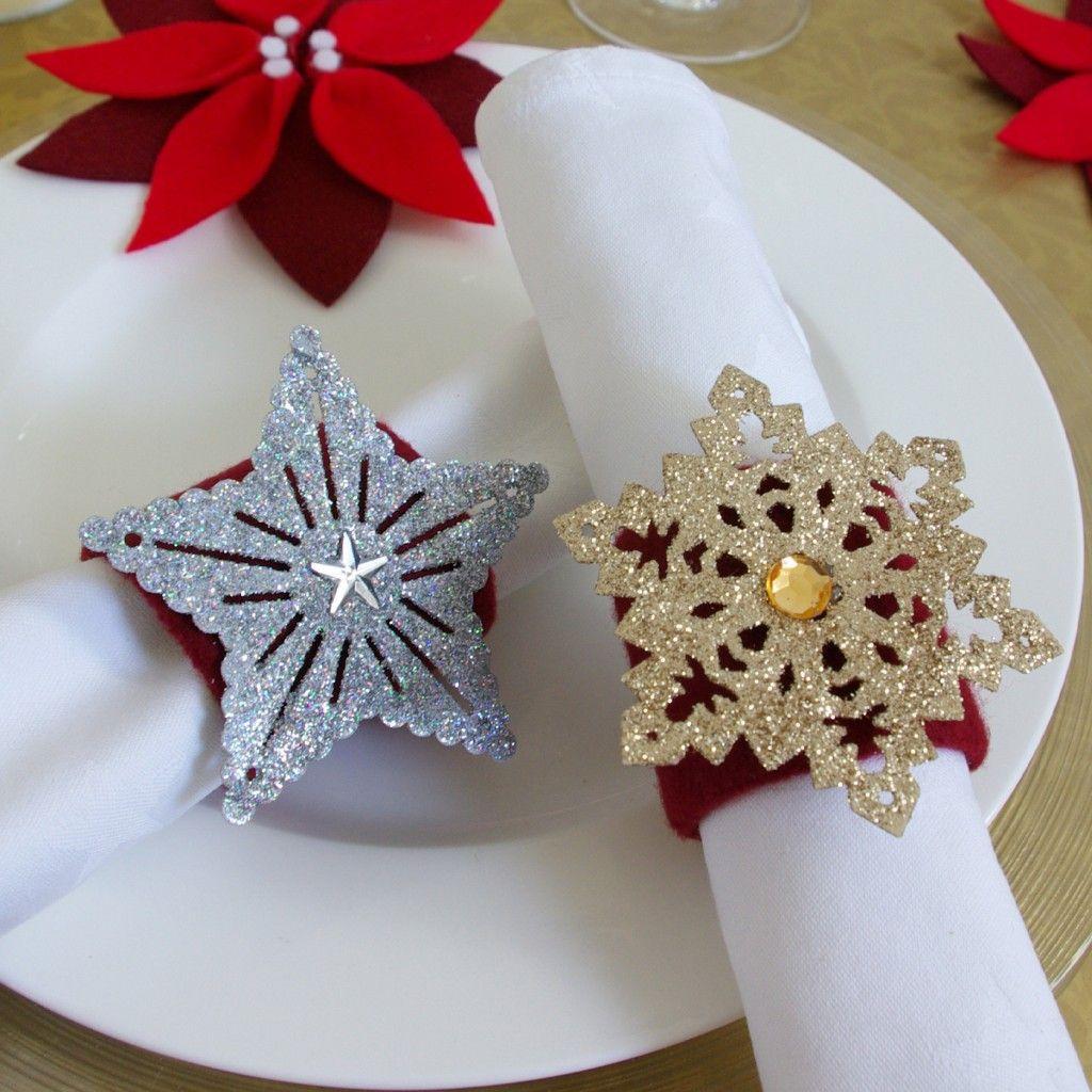 Weihnachten Weihnachts-Deko Dekoration Serviettenringe bei Serviettenringe Selber Machen Weihnachten