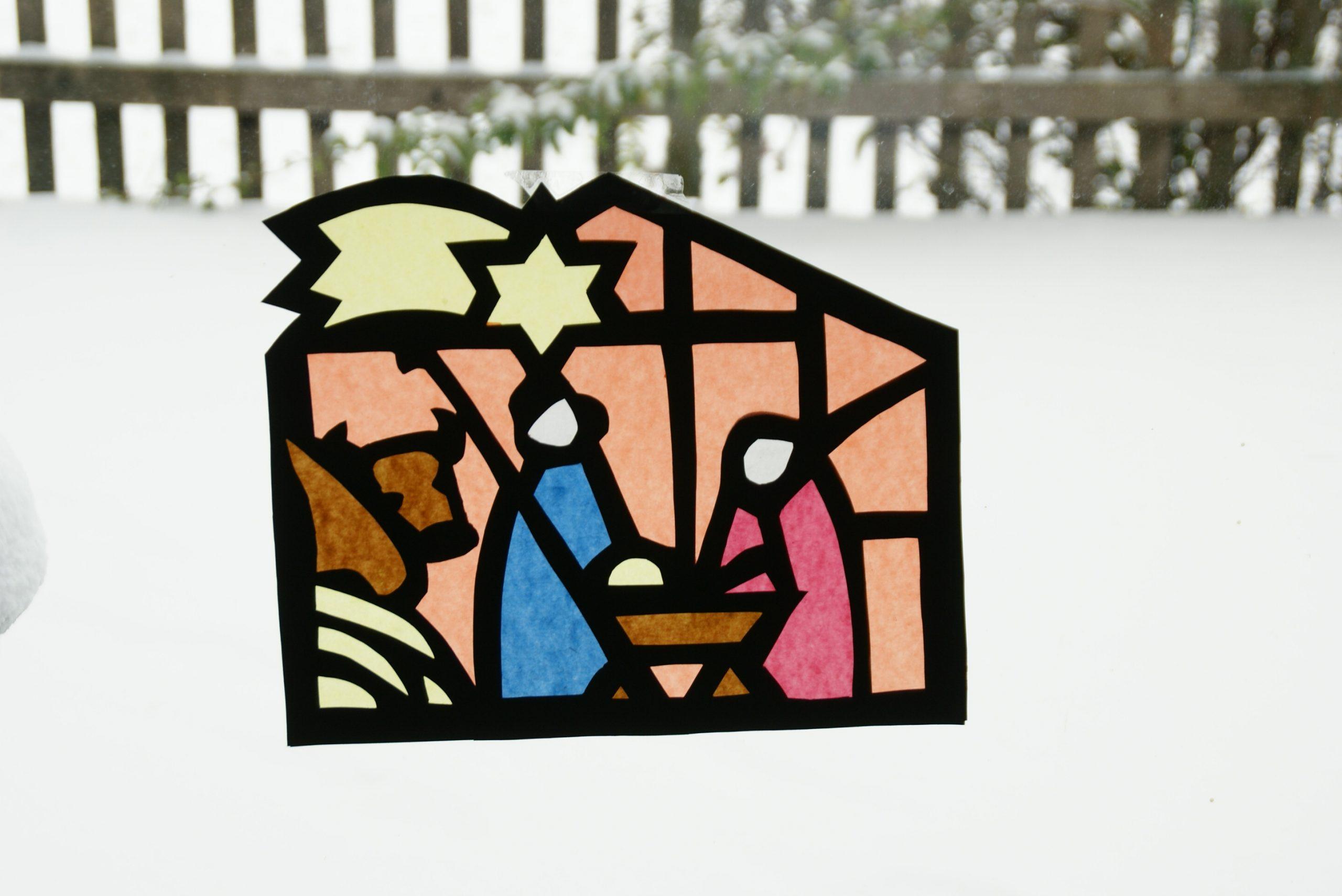 Weihnachtliche Fensterbilder | Bayerisches mit Fensterbilder Weihnachten Vorlagen Transparentpapier
