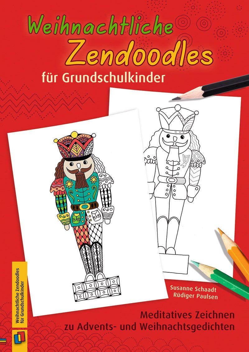 Weihnachtliche Zendoodles Für Grundschulkinder bei Weihnachtsgedichte Grundschulkinder