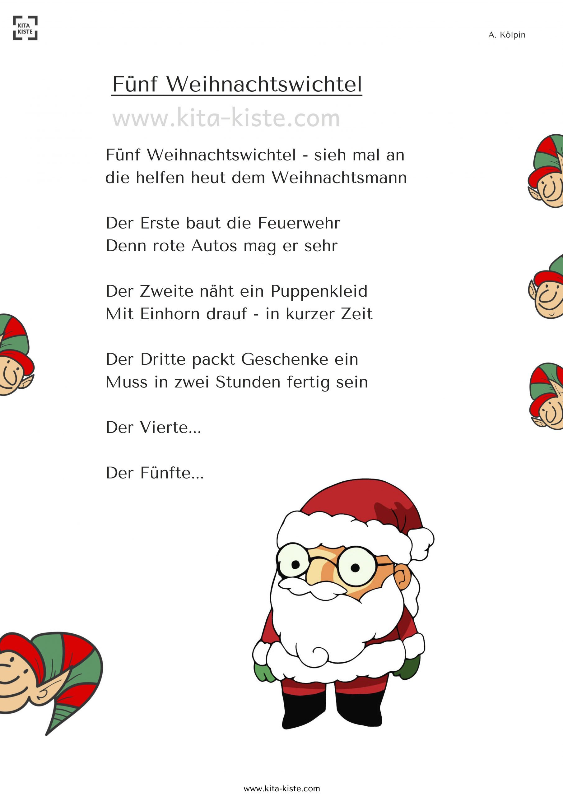 Weihnachts-Gedicht - Wie Helfen Die Wichtel Dem innen Lustige Gedichte Zur Weihnachtszeit