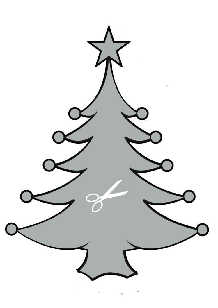 Weihnachtsbaum Schablone Bastelanleitungen - De.hellokids ganzes Tannenbaum Vorlage Zum Ausdrucken