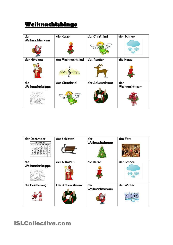 Weihnachtsbingo (Mit Bildern) | Weihnachtsbingo, Weihnachten bestimmt für Ideen Weihnachtsfeier Grundschule