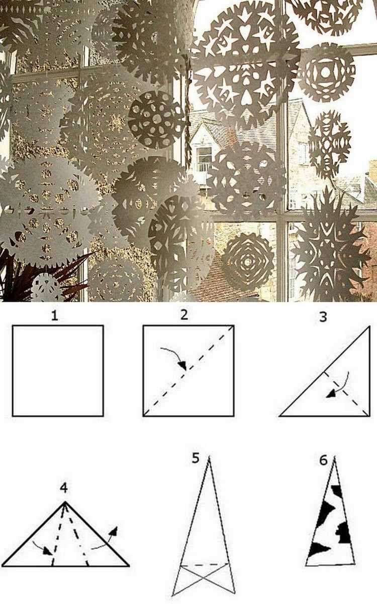 Weihnachtsdeko Für Fenster Basteln: 25 Ideen Und Beispiele für Schneeflocken Aus Papier Schneiden