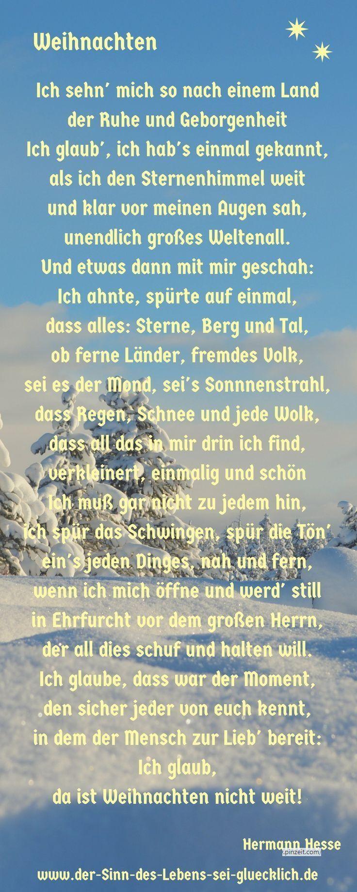 Weihnachtsgedicht: #weihnachtsgedicht Von Hermann Hesse bei Christliche Weihnachtsgedichte Für Kinder